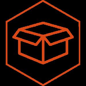 icono flecha caja empaque merida
