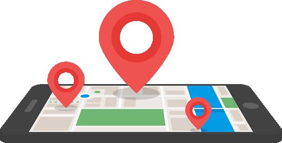 smartphone mapa
